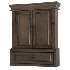 Home Decorators Collection Naples 26 In W X 32 H Wall Cabinet Distressed Grey Nadgo2633 The Depot
