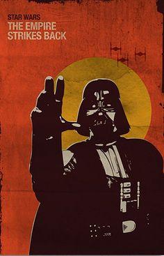 Star Wars: Episode V - The Empire Strikes Back (1980) ~ Alternative Movie Poster by SanaSini #amusementphile