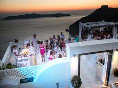 The famous sunset in Santorini, during our magic wedding on Dana Villas Terrace.
