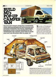Carsthatnevermadeitetc - Phoenix, 1973. A kit-camper van based on a VW Microbus. Apparently one featured in Total Recall. You an still buy the plans for $85!