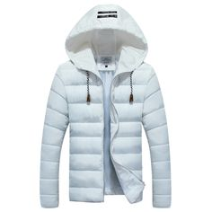 Find More Parkas Information about Winter Jacket Men 2015 New Hooded Solid Casual Parka Men Fashion Striped Slim Fit Zipper Cotton padded Man Winter Coat 3XL M Hot,High Quality jacket with fur collar,China coat Suppliers, Cheap coat fabric from Eric's on Aliexpress.com
