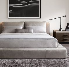 RH Modern's Cloud Platform Leather Bed