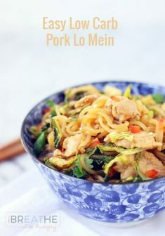 Easy Low Carb Lo Mein - a gluten free, keto, lchf, and Atkins diet friendly stir fry recipe. Stir Fry Recipes, Pork Recipes, Asian Recipes, Low Carb Recipes, Diet Recipes, Healthy Recipes, Ethnic Recipes, Diabetic Recipes, Radish Recipes