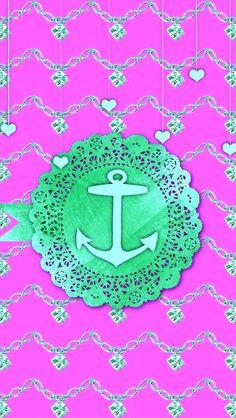 Coastal Wallpaper, Nautical Wallpaper, Anchor Wallpaper, Phone Backgrounds, Iphone Wallpapers, Beach Fun, Decoupage, Mermaid, Arrows