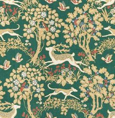 Rustic fabric for cabins | Forest Animals & Foliage II