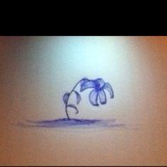 Drooping Flower Doodle. Pen