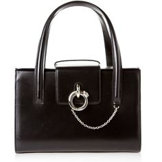 Pre-owned Cartier Satchel ($686) ❤ liked on Polyvore featuring bags, handbags, apparel & accessories, satchels, wallets & cases, vintage handbags, genuine leather handbags, leather satchel handbags, vintage leather handbags and vintage purse