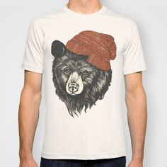 zissou the bear T-shirt by Laura Graves - Society 6