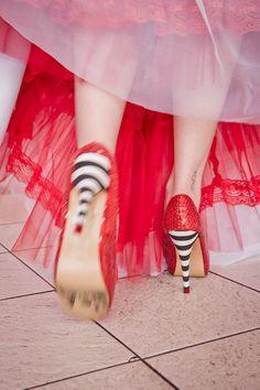 A Rock n Roll Shoot & Iron Fist Ruby Slippers: Cat & Louis · Bridal Shoot/Trash The Dress · Rock n Roll Bride
