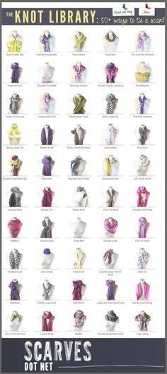 The Knot Library: 50 Ways to Tie a Scarf   best stuff