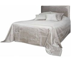 Portia Silver Silk Luxury Bedspreads, Silk Art, Silk Taffeta, Quilted Bedspreads, Seat Pads, Bed Spreads, Art Deco, Pure Products, Silver
