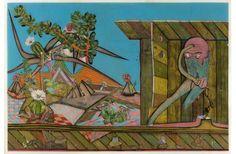 Max Wyse | Le matin de Tezcatlipoca |Techniques mixtes sous feuille d'acrylique (mixed techniques under plexiglass) | 2009