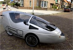 In the Netherlands, Life Runs on 2 Wheels (Sometimes 3) - The New York Times- Amazing Wheels velomobile