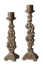 A30118 Gia Candleholders 6x20x6 and 7x23x5