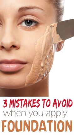 3 Mistakes to Avoid when you apply foundation - Diva Secrets Foundation Tips, How To Apply Foundation, Makeup Foundation, Foundation Application Tutorial, Beauty Tips For Teens, Health And Beauty Tips, Health Tips, Makeup Artist Tips, Makeup Tips