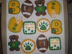 #Baylor Bears cookies!