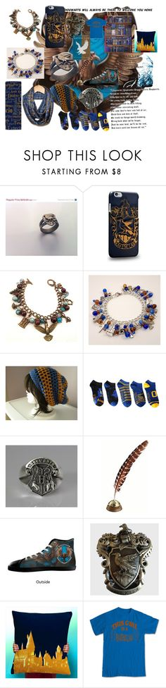 """""""Ravenclaw"""" by demigodgirl3 ❤ liked on Polyvore featuring Hot Topic and WALL"""