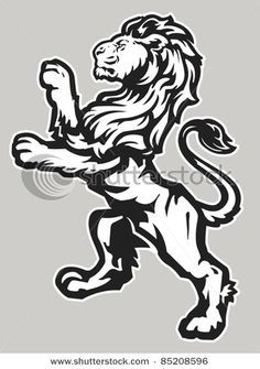 standing proud lion