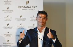 Ronaldo helped to officially unveil the hotel on Madeira despite it already being up and r...