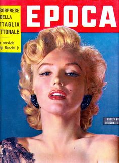 MARILYN MONROE Epoca cover 14 Giugno 1953 (detail)  Italian illustrated weekly current events magazine published from 1950 to 1997 vintage cover. (please follow minkshmink on pinterest) #marilynmonroe #epoca