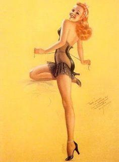 Vintage Pin Up Girl Illustration Pin Up Vintage, Retro Pin Up, Mode Vintage, Etsy Vintage, Vintage Art, Vintage Style, Pinup Art, Pin Up Girls, Pin Up Fotografie