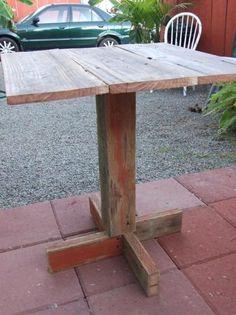 Rustic Reclaimed Wood Backyard Table