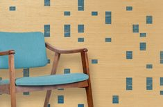 Hand-printed wallpaper by twenty2 | Acco Kits grasscloth in neptune