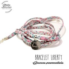 Check out our bracelet liberty selection for the very best in unique or custom, handmade pieces from our bracelets shops. Bracelets Liberty, Gravure, Jewelery, Bands, Handmade, Craft Ideas, Etsy, Stud Earrings, Bracelet