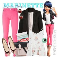 Marinette Dupain-Cheng, from Miraculous Ladybug by blackrabbitmegapig on Polyvore