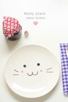 DIY smile empty plate