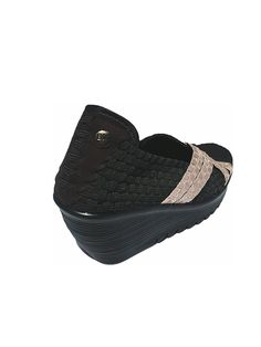 Bernie Mev Womens Leonora Black/Nude Metallic Size 41 -- Continue to the product at the image link.