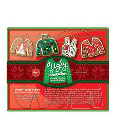 Ugly Sweater Four-Piece Cookie Cutter Set