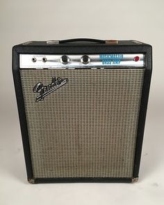 If you're looking for a killer practice or small gig amp that looks as good as it sounds, this is your unit. Simply put, this little banger is in fine working condition. You can still get fuzzy vintage tones at a fraction of the cost, and this amp works for both bass and guitar. The speaker has been replaced with a Celestian G12-30 (we've just recently found out that this is pretty common with these amps). Great amp in good condition with solid sound. Can't beat that!In our 30+ years