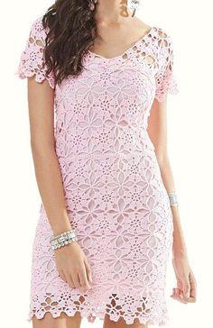 Fabulous Crochet a Little Black Crochet Dress Ideas. Georgeous Crochet a Little Black Crochet Dress Ideas. Crochet Summer Dresses, Black Crochet Dress, Short Summer Dresses, Crochet Blouse, Trendy Dresses, Knit Dress, Baby Dresses, Crochet Motifs, Crochet Patterns