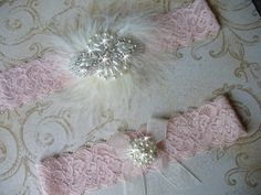 A personal favorite from my Etsy shop https://www.etsy.com/listing/161356887/garter-vintage-blush-pink-garter-wedding