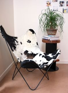 Cowhide Butterfly Chair Cover