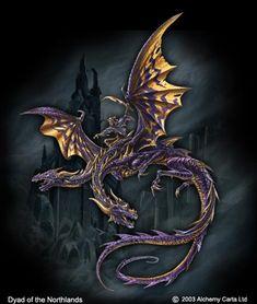 Dyad of the Northlands Gothic Pictures, Alchemy Art, Gothic Art, Art Gallery, Artwork, Animals, Dragons, Mad, Gothic Artwork