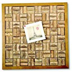 Make your own wine cork bulletin board!