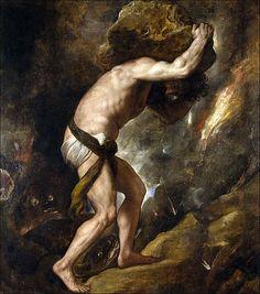 Titian, Sisyphus, 1548-1549