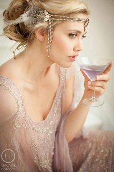 Great Gatsby style - love the headpiece