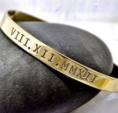 Roman Numerals Jewelry/ Anniversary Gift / 1/4 by TatumBradleyCo, $24.50