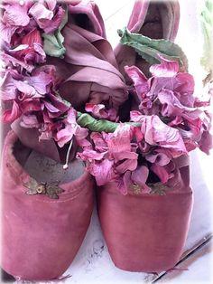Mauve pointe shoes