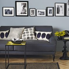 Pale Blue And Charcoal Grey Living Room Living Room Navy Blue Couches Living Room Charcoal Living Rooms, Living Room Grey, Living Room Modern, Living Room Sofa, Living Room Designs, Living Room Decor, Charcoal Couch, Grey Room, Living Room Pictures