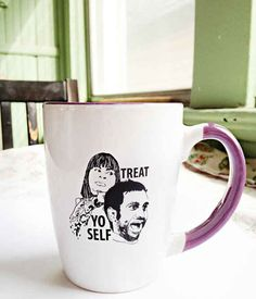 Parks and Recreation Treat Yo Self Mug | 24 TV Show Coffee Mugs That Are Perfect For Both Your Coffee And TV Addiction
