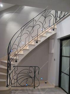 Rampes d'escalier en fer forgé Style Art nouveau : Modèle Liane ...