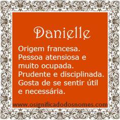 Significado do nome Danielle | Significado dos Nomes