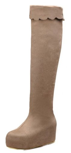 IDIFU Women's Fashion Platform Mid Wedge Heels Side Zipper Over The Knee Boots Riding Booties >>> Trust me, this is great! Click the image. : Over the knee boots Women's Over The Knee Boots, Women's Boots, Hunter Boots, Wedge Heels, Rubber Rain Boots, Trust, Platform, Wedges, Booty