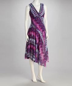 Take a look at this Purple Asymmetrical Hem Dress by Rabbit Rabbit Rabbit Designs on #zulily today!