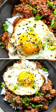 These Korean Ground Beef bowls are an easy and quick ground beef recipe, perfect for weeknight dinners!  The flavors of beef bulgogi made easy using ground beef! Bulgogi, Healthy Menu, Healthy Eating Tips, Beef Bowl Recipe, Quick Ground Beef Recipes, Korean Ground Beef, No Cook Meals, I Love Food, Food For Thought
