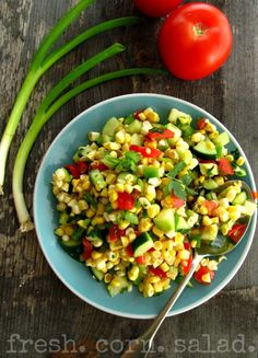fresh corn salad  - perfect for camping